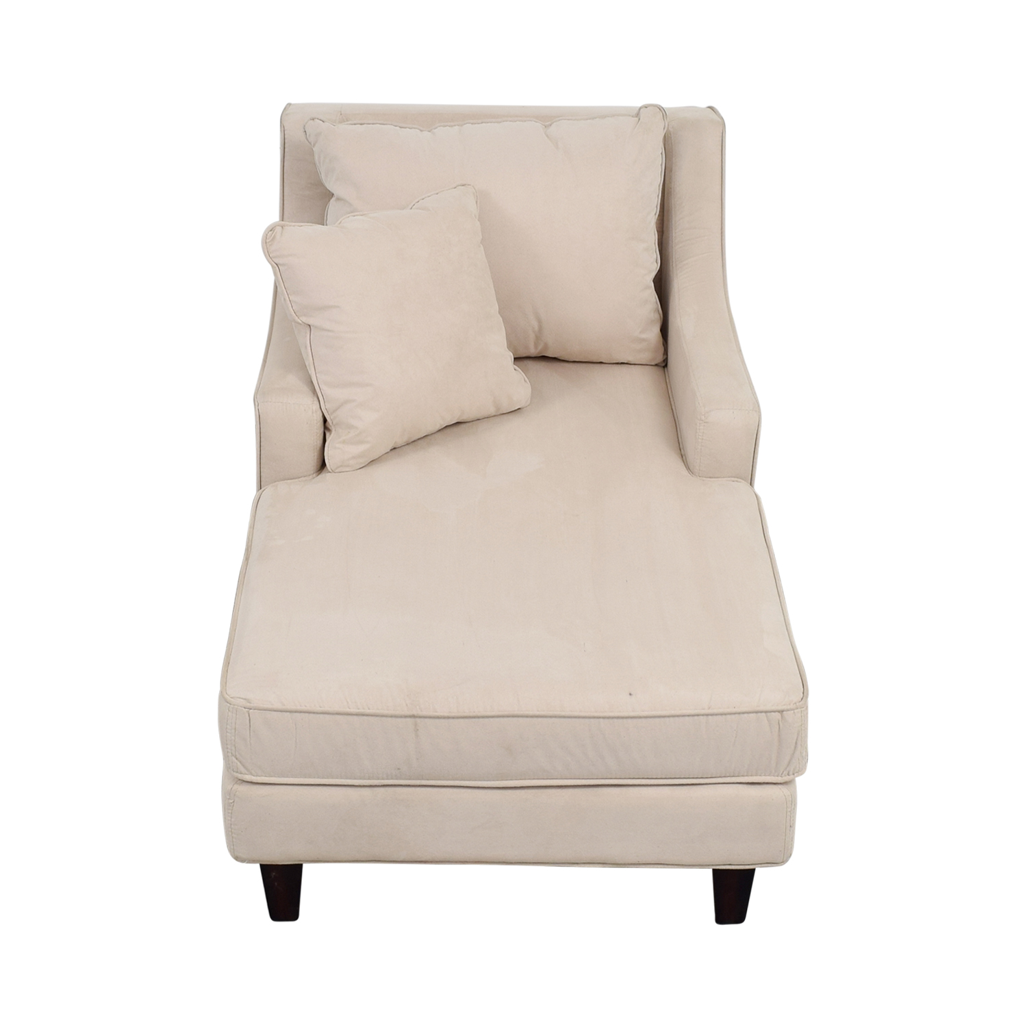 Coaster Coaster Beige Microfiber Chaise Lounger for sale