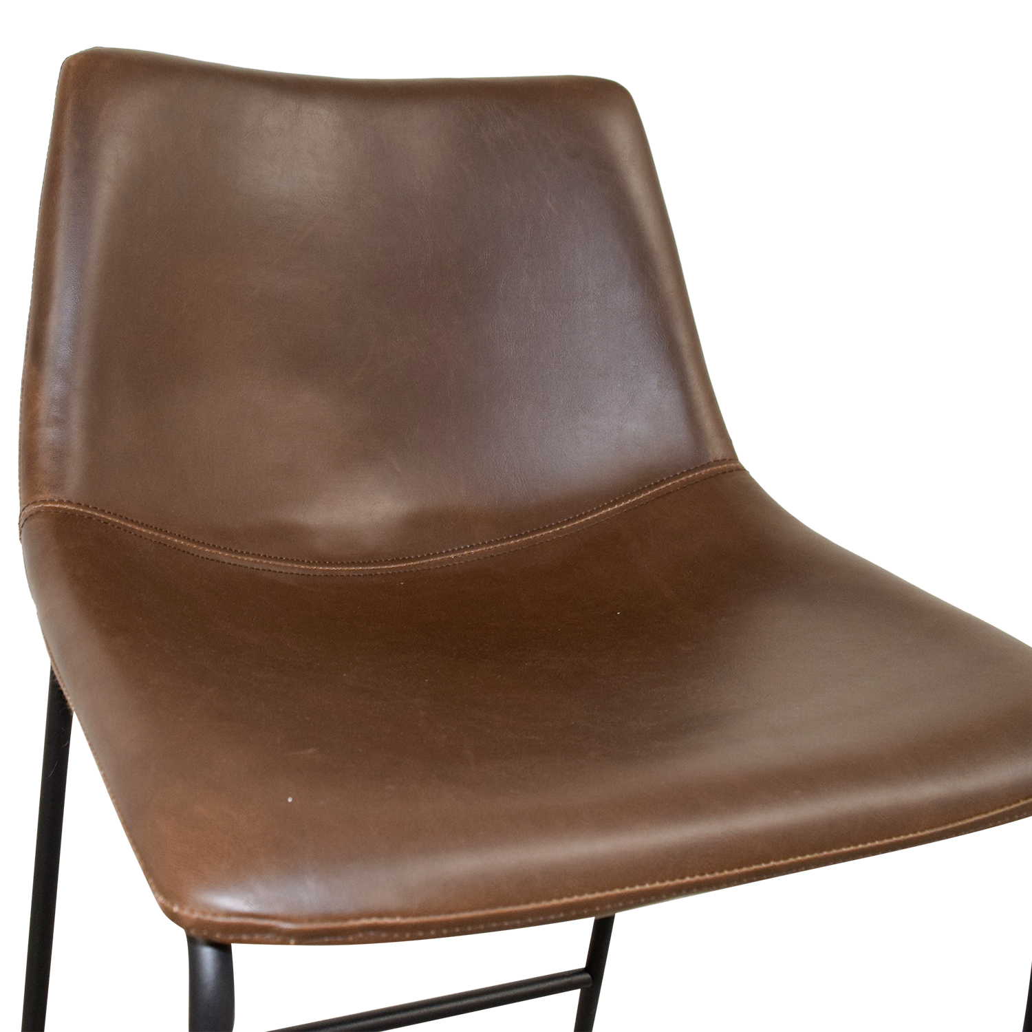 Coaster Coaster Retro Brown Leatherette Counter Height Chair Black / Brown