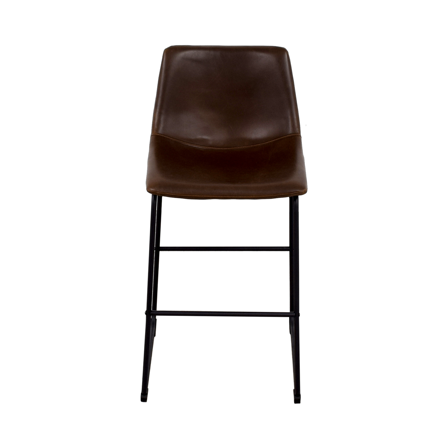 buy Coaster Coaster Retro Brown Leatherette Counter Height Chair online