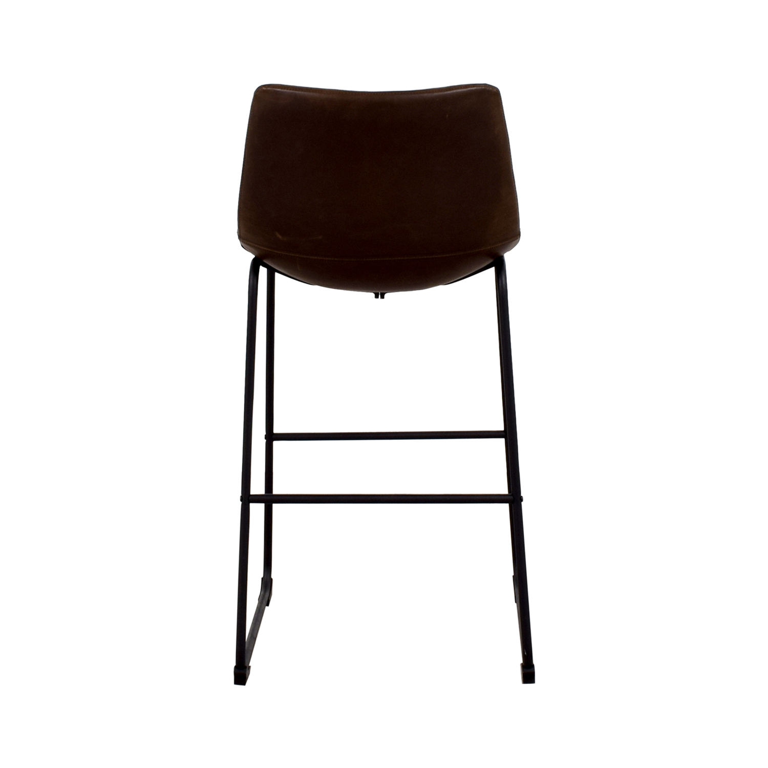 Coaster Coaster Retro Brown Leatherette Counter Height Chair dimensions