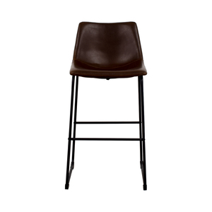 buy Coaster Retro Brown Leatherette Counter Height Chair Coaster Fine Furniture