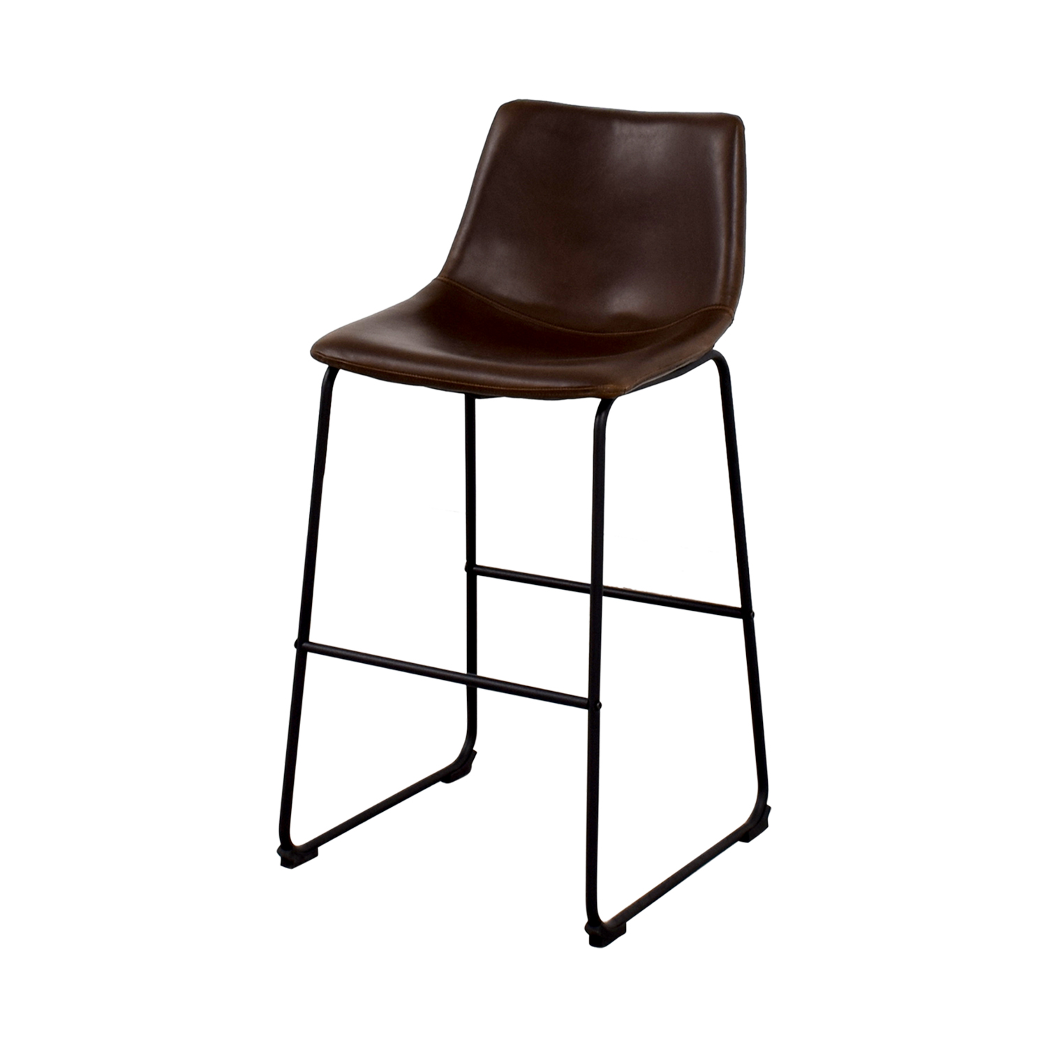 shop Coaster Retro Brown Leatherette Counter Height Chair Coaster