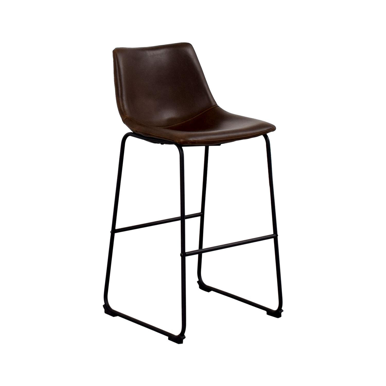 Coaster Coaster Retro Brown Leatherette Counter Height Chair for sale