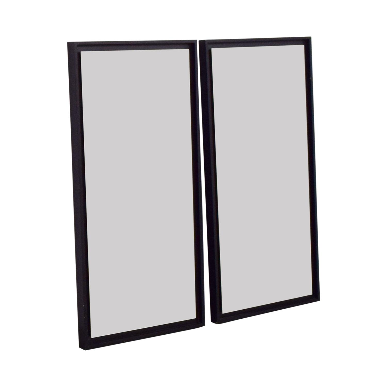 West Elm West Elm Black Framed Mirror Set Mahogany / Glass