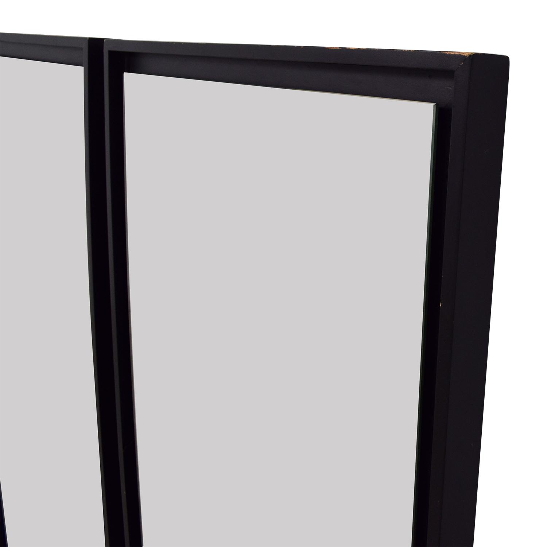 shop West Elm Black Framed Mirror Set West Elm
