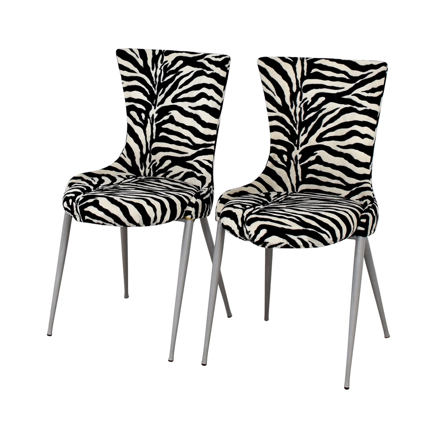 European Furniture Company Contemporary Zebra Dining Chairs / Dining Chairs