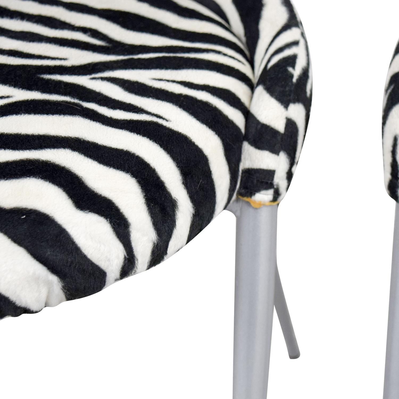 shop European Furniture Company Contemporary Zebra Dining Chairs European Furniture Company