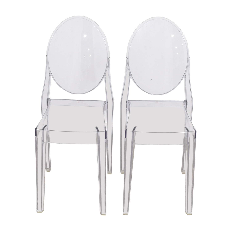 buy Kartell Starck Victoria Ghost Chairs Kartell