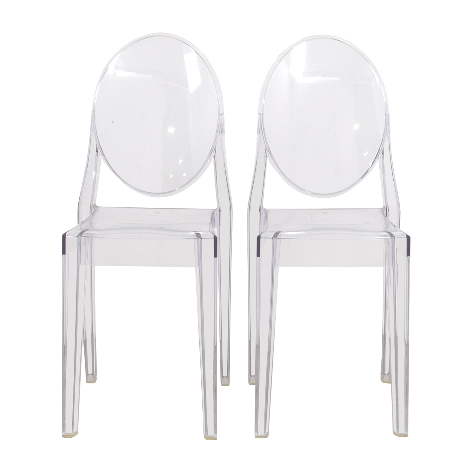 shop Kartell Starck Victoria Ghost Chairs Kartell Dining Chairs