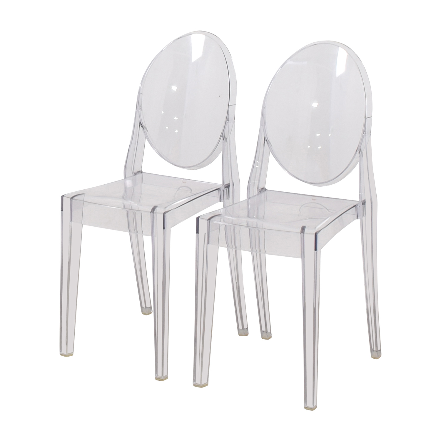 75 off kartell kartell starck victoria ghost chairs for Chaise ghost starck