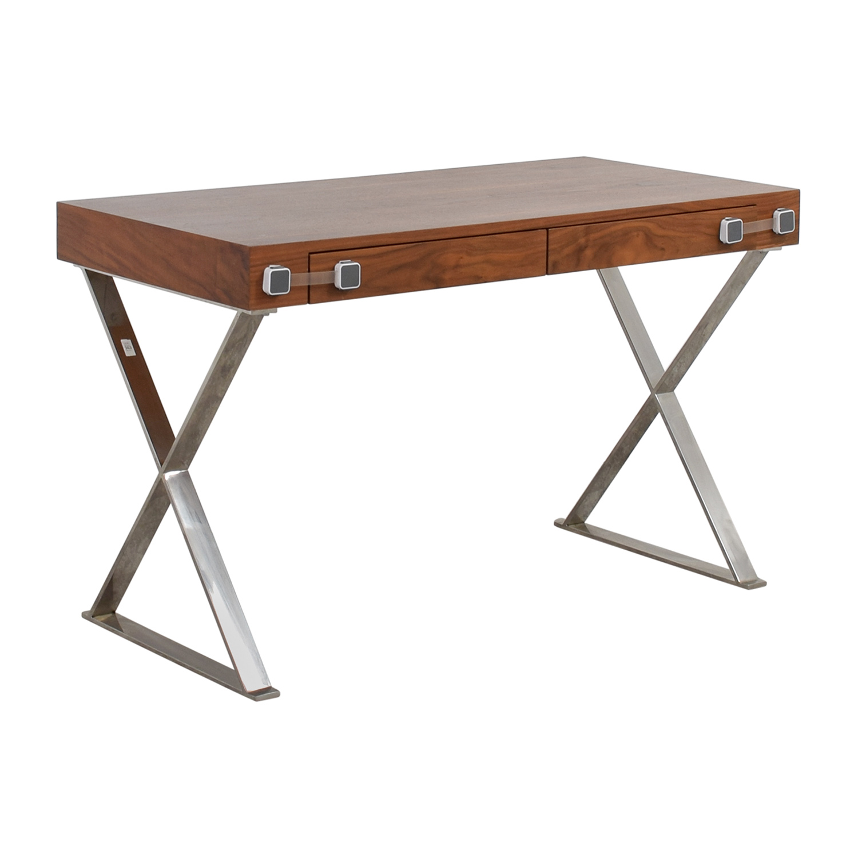 shop Pangea Home Pangea Home Wood and Metal X-Leg Desk online