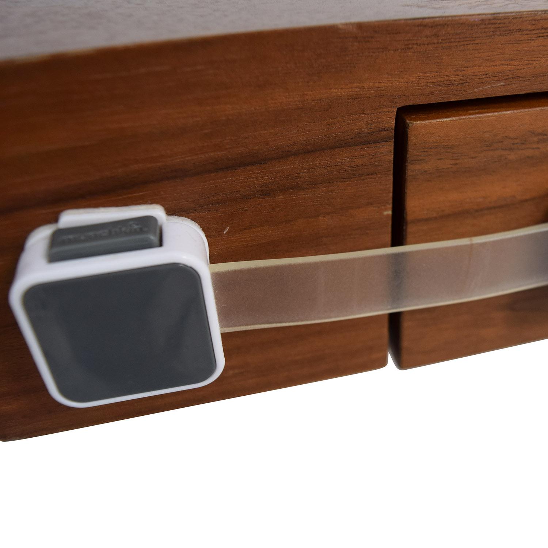 Pangea Home Pangea Home Wood and Metal X-Leg Desk Tables