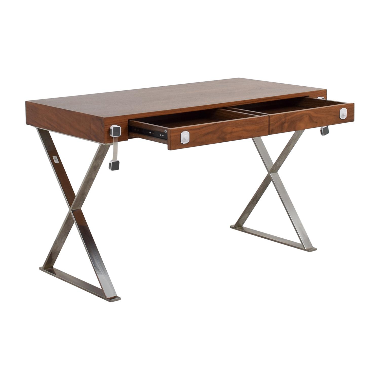 Pangea Home Pangea Home Wood and Metal X-Leg Desk nj