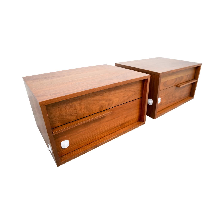 shop Modloft Jane Two-Drawer Nightstands Modloft End Tables