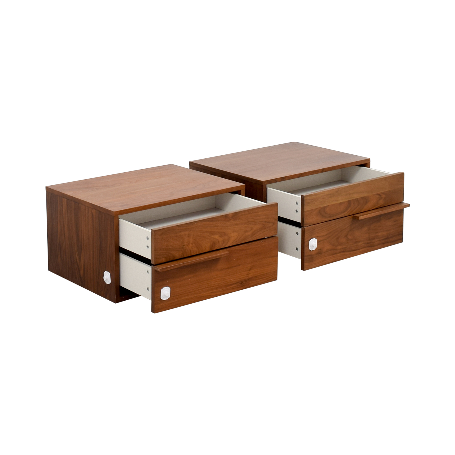 shop Modloft Jane Two-Drawer Nightstands Modloft