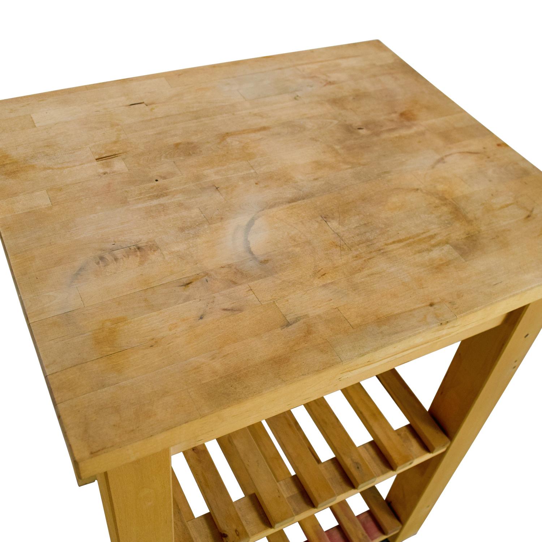 Ikea Kitchen Butcher Block Cart : 66% OFF - IKEA IKEA Butcher Block Kitchen Cart with Castors / Tables