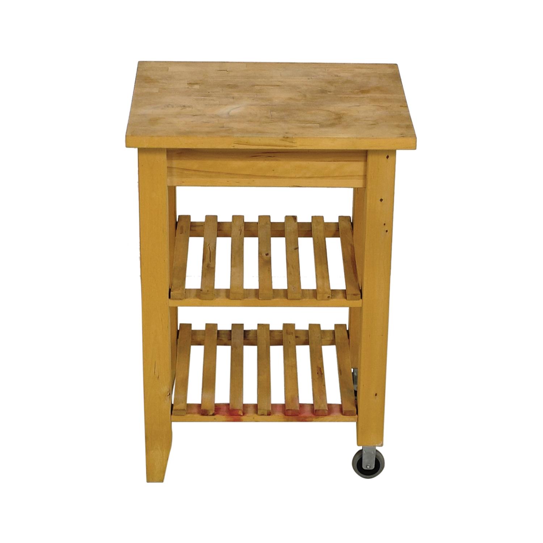 Ikea Kitchen Butcher Block Table : 66% OFF - IKEA IKEA Butcher Block Kitchen Cart with Castors / Tables