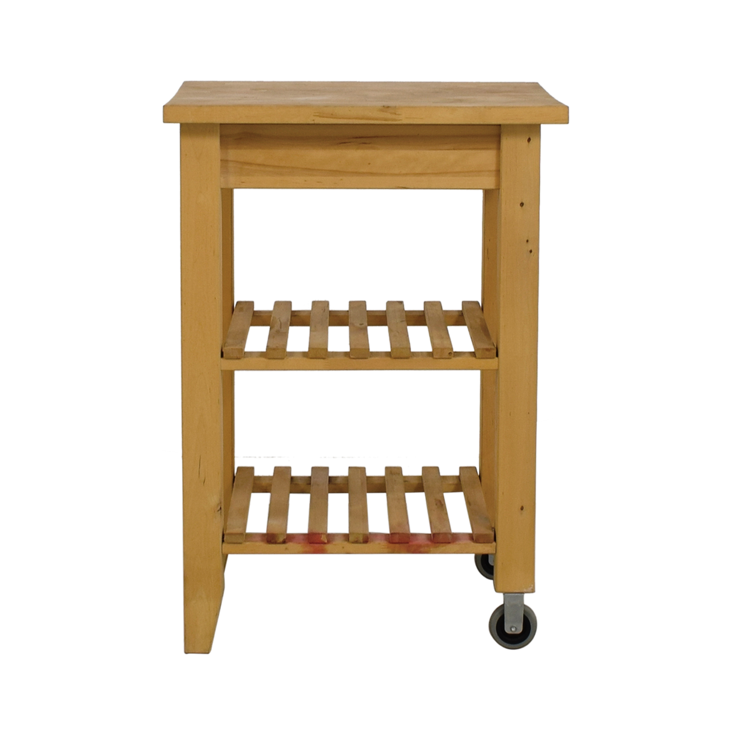 Buy IKEA Butcher Block Kitchen Cart With Castors IKEA Utility Tables ...