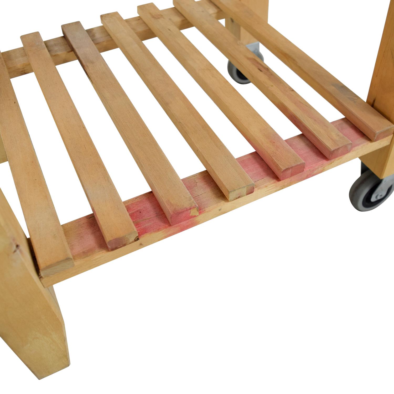 shop IKEA Butcher Block Kitchen Cart with Castors IKEA Tables