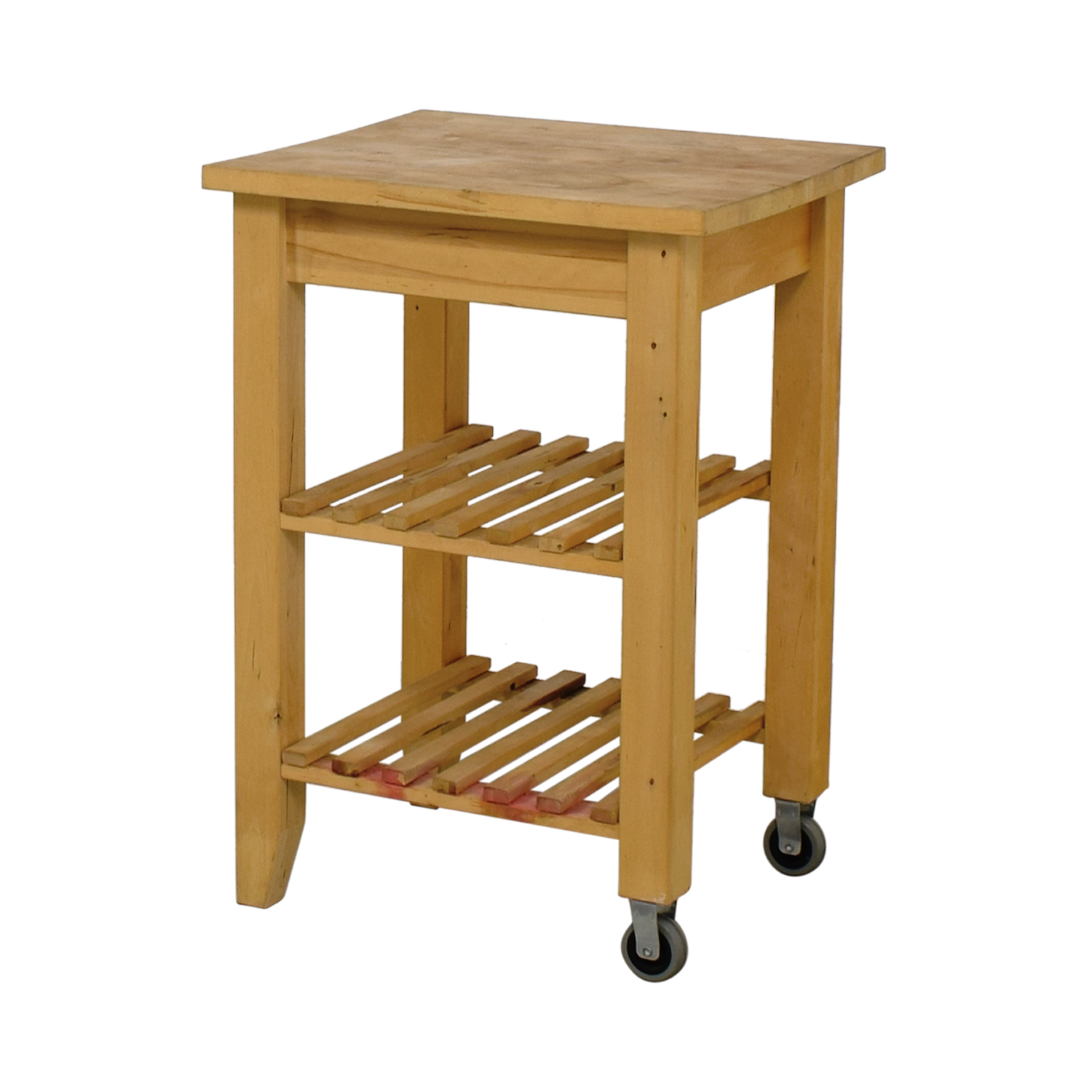 66 Off Ikea Ikea Butcher Block Kitchen Cart With