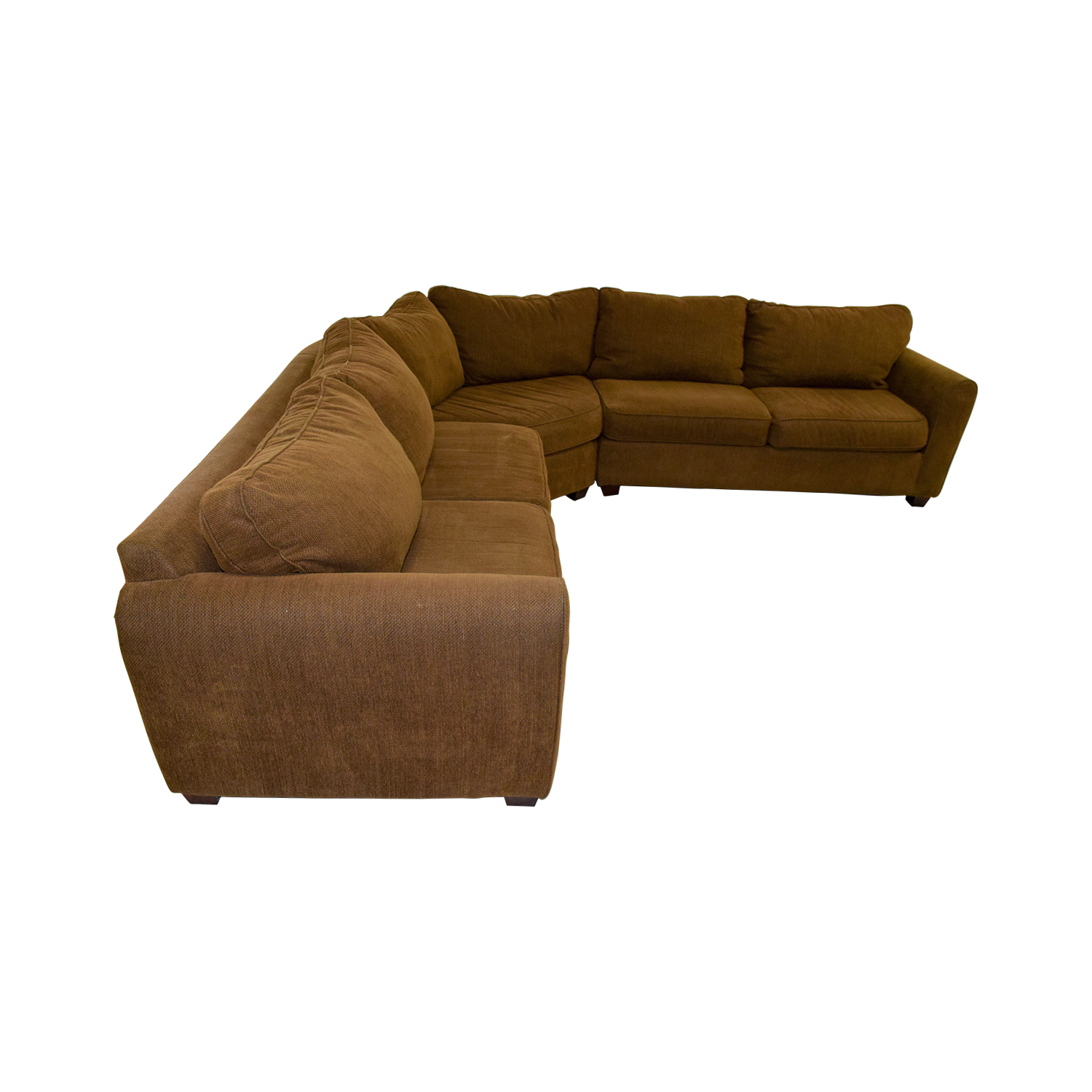 Brown L-Shaped Sectional coupon