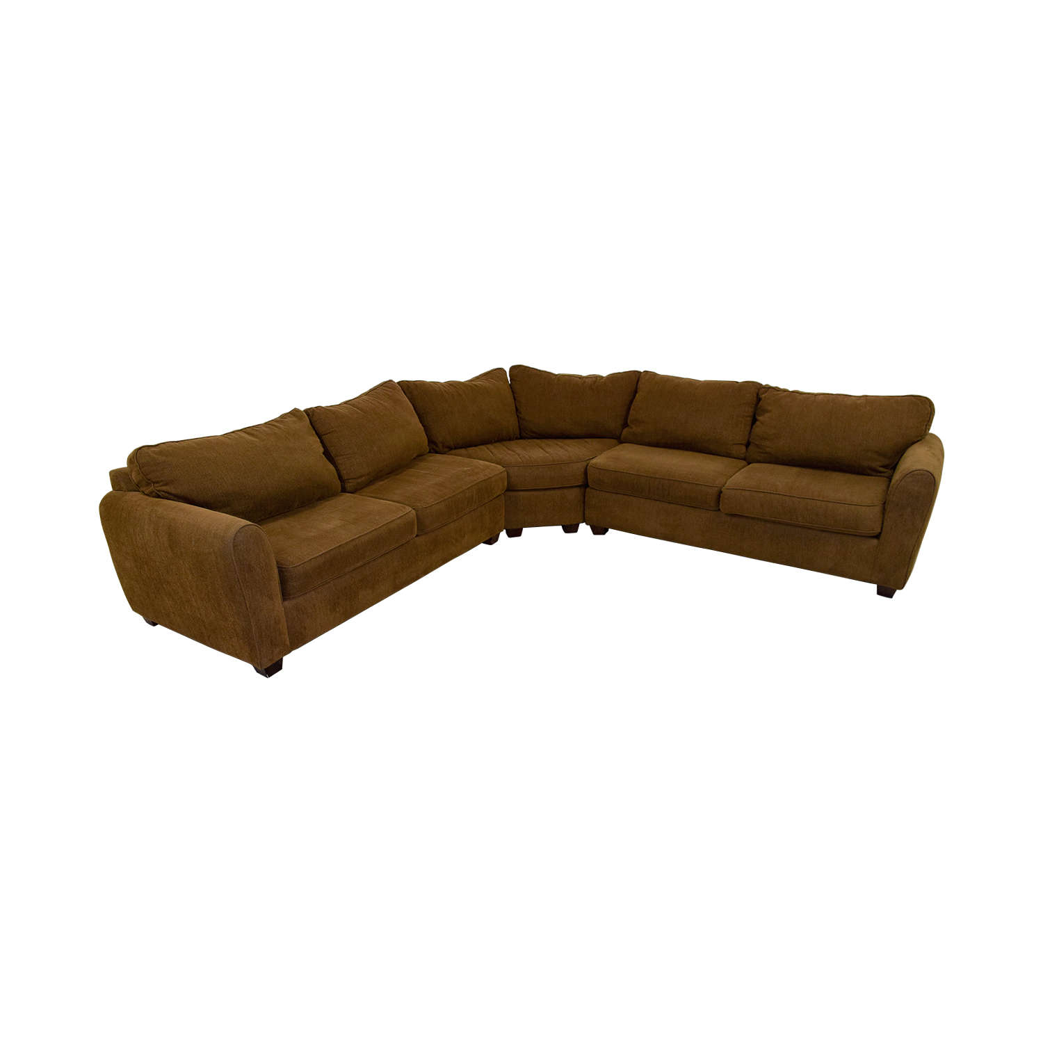 Brown L-Shaped Sectional second hand