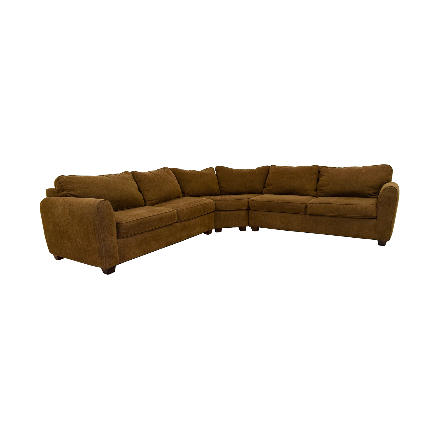 Brown L-Shaped Sectional Sofas