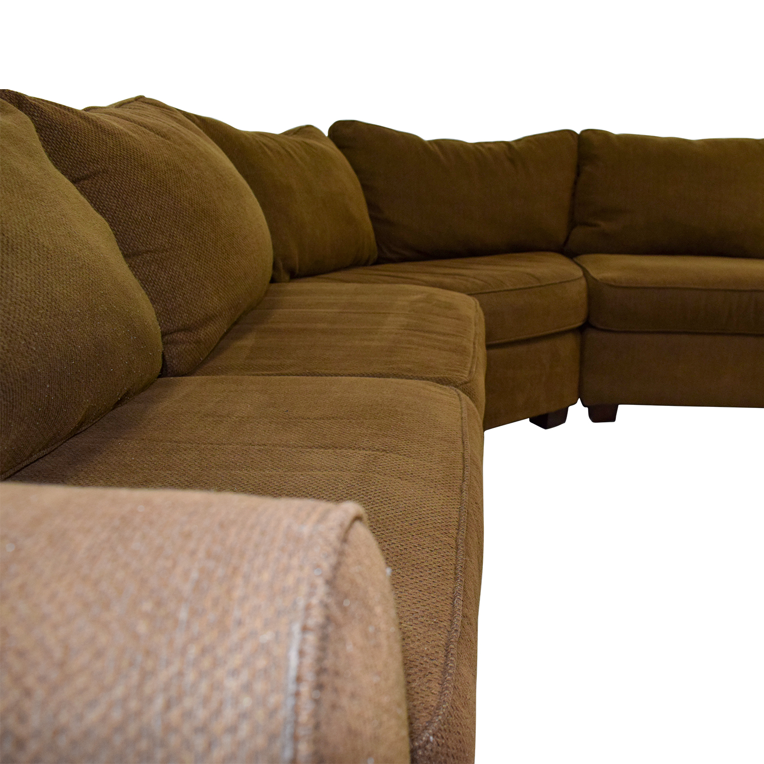 second hand brown l shaped sectional
