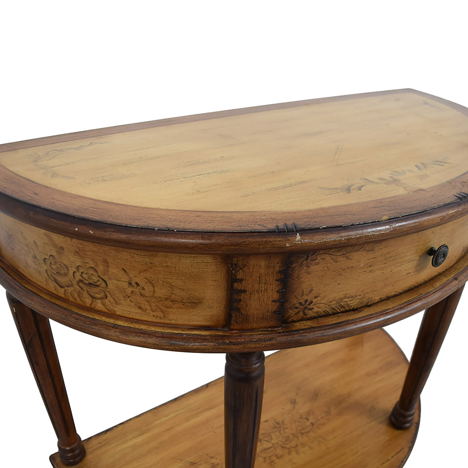 Half Rond Side Table.79 Off Half Round Table Tables