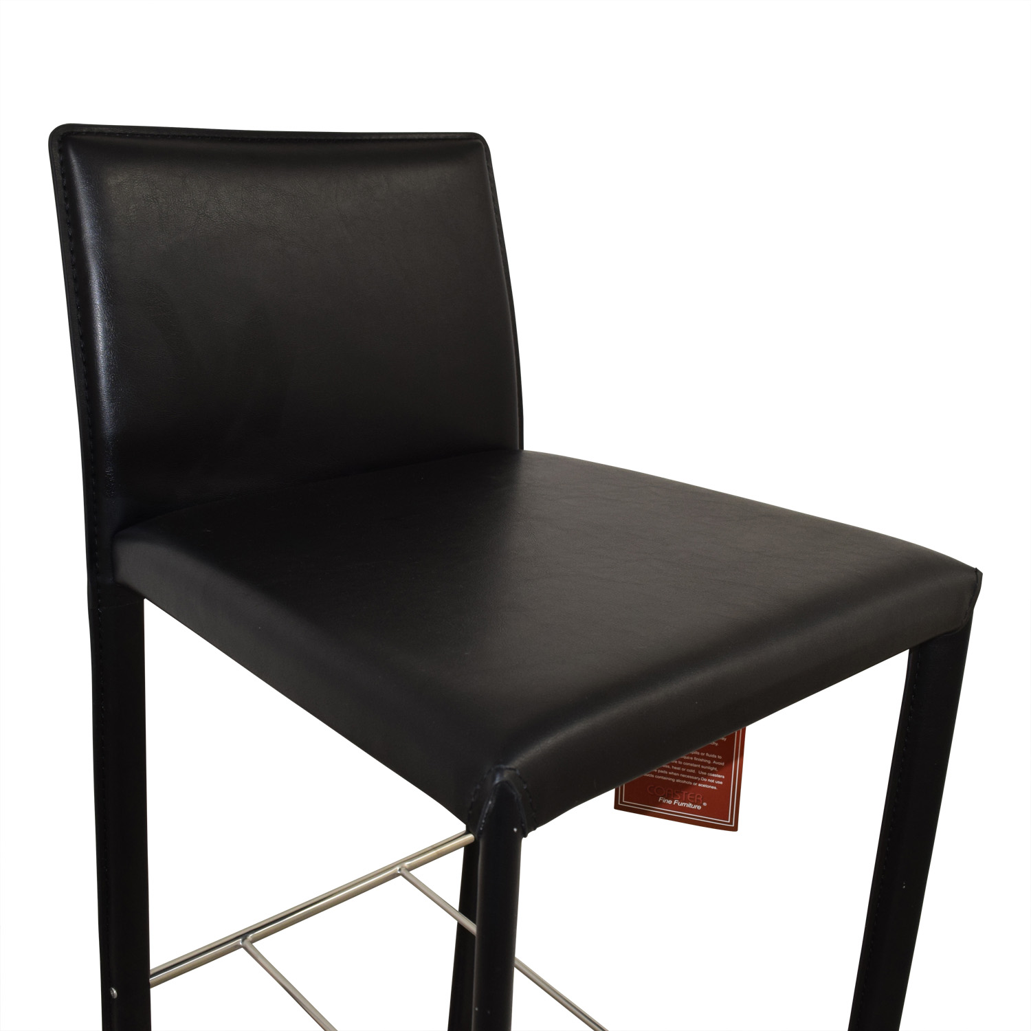 Coaster Coaster Modern Black Leatherette Bar Chair second hand
