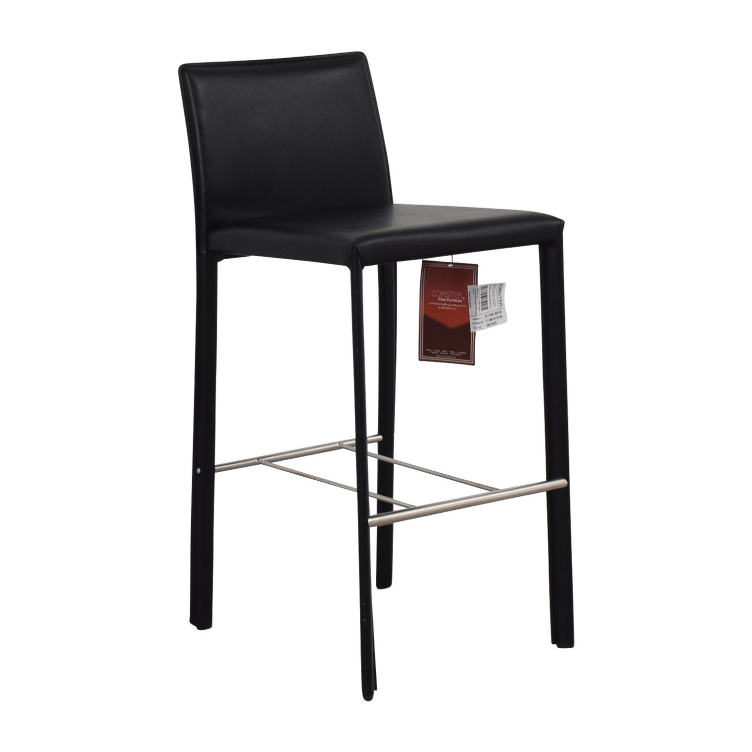 Coaster Coaster Modern Black Leatherette Bar Chair