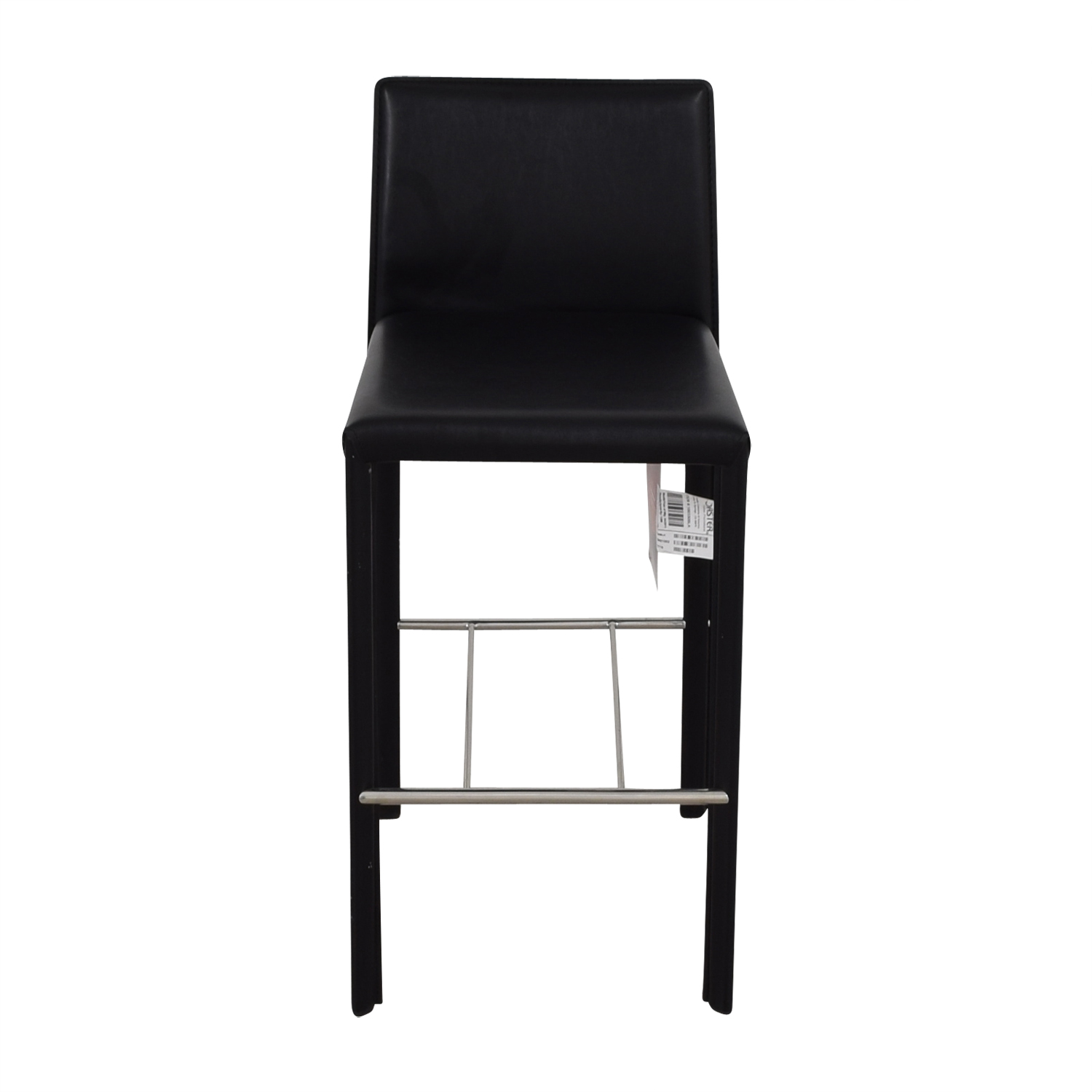 shop Coaster Modern Black Leatherette Bar Chair Coaster