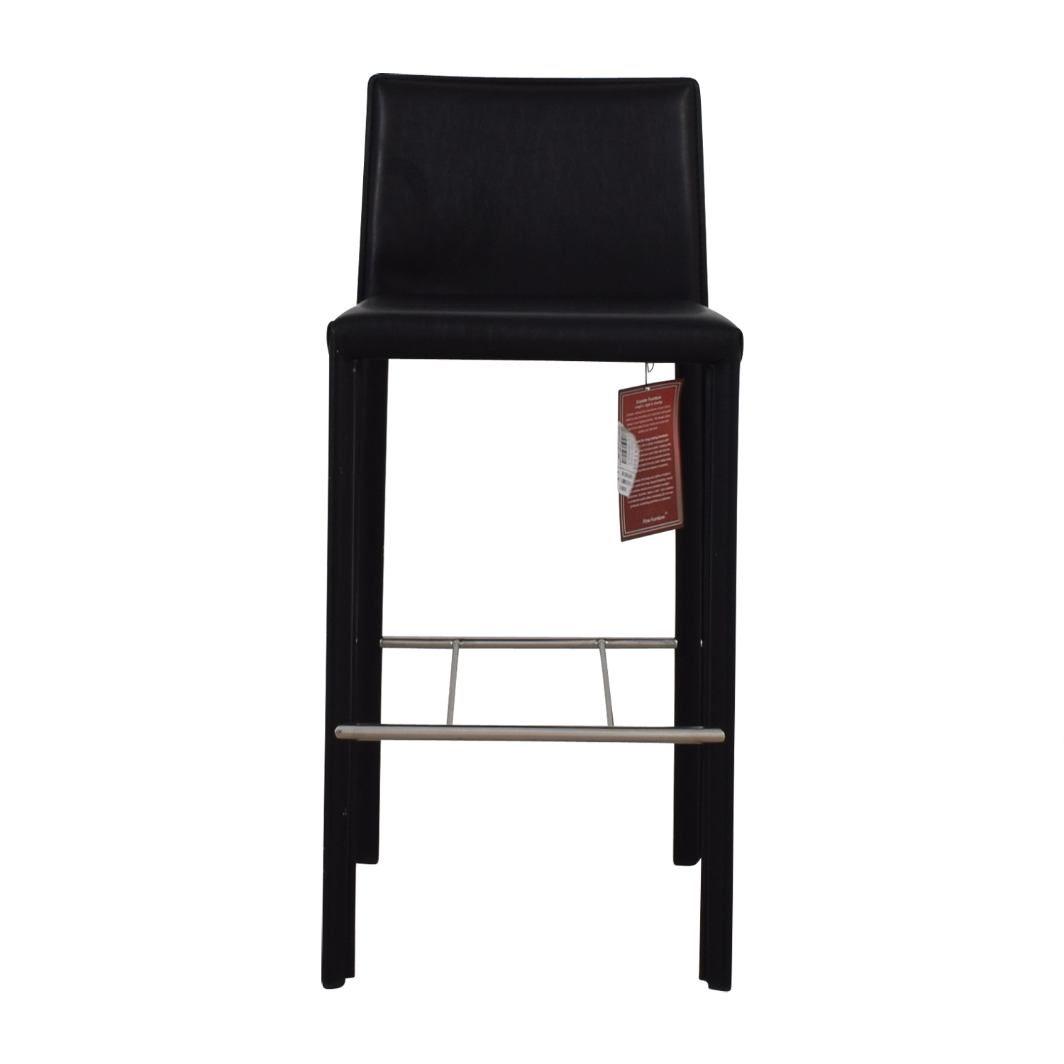 Coaster Coaster Modern Black Leatherette Bar Chair price