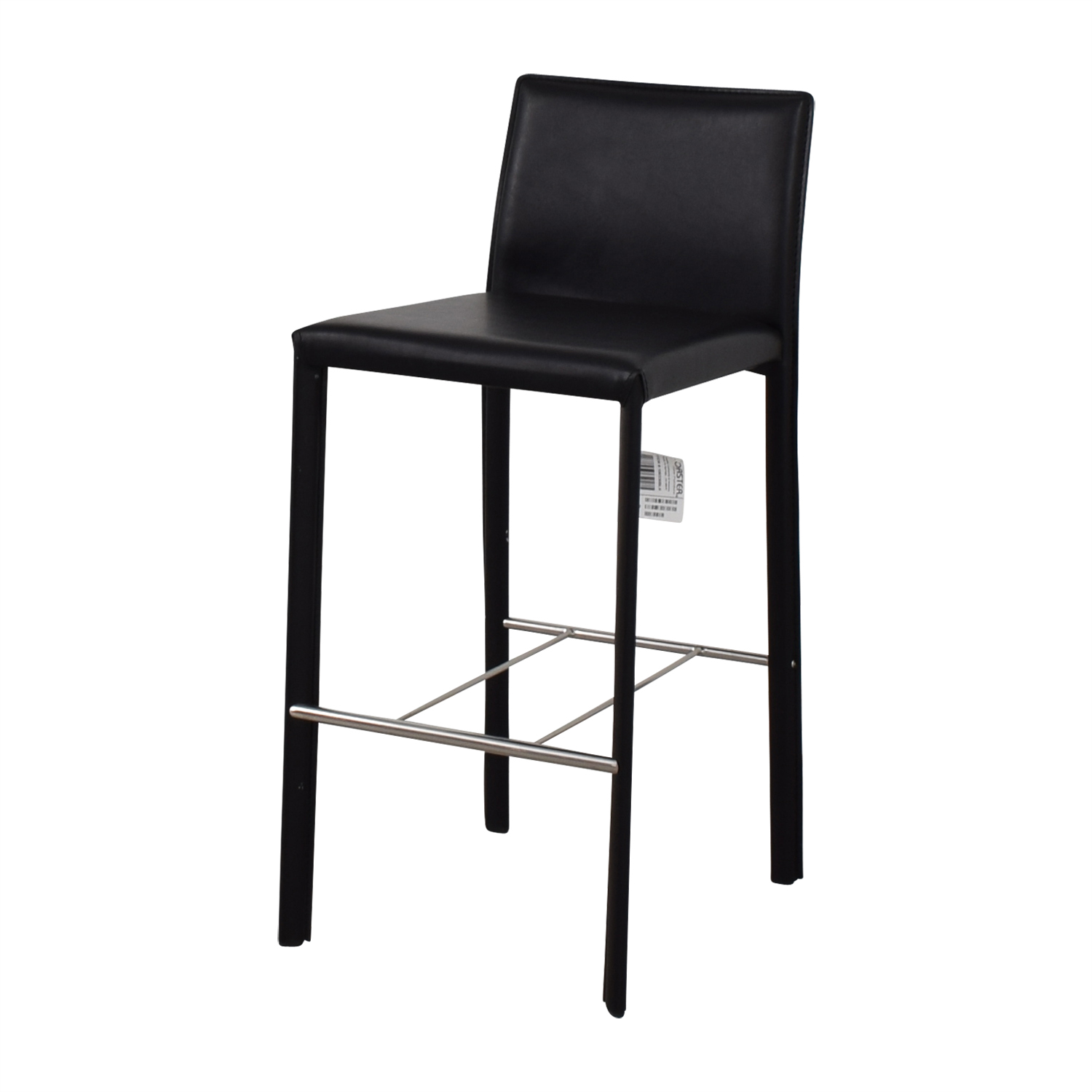 Coaster Coaster Modern Black Leatherette Bar Chair dimensions