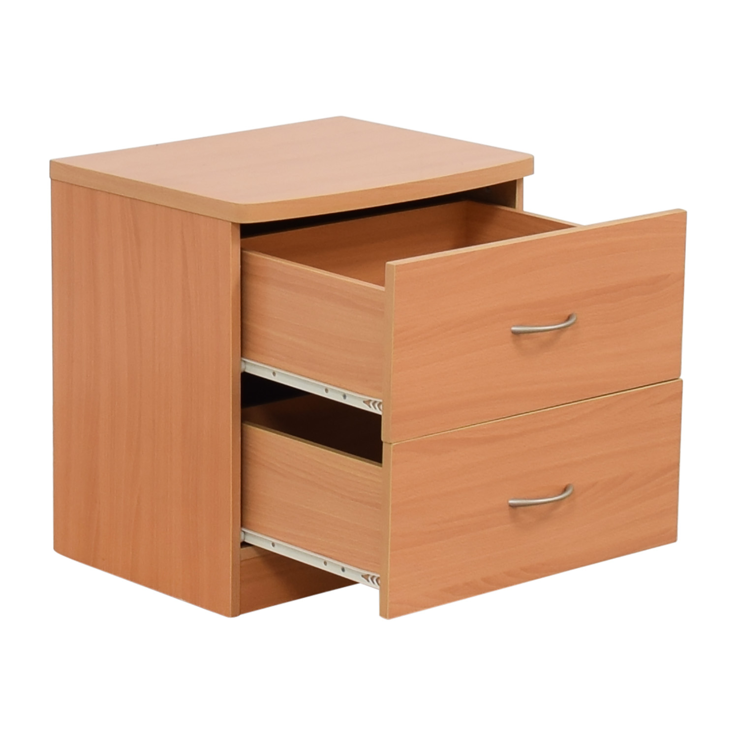 Natural Two-Drawer Nightstand Tables