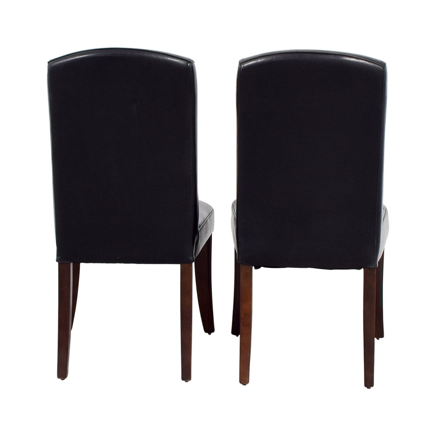 shop Black Padded Leatherette High Back Chairs