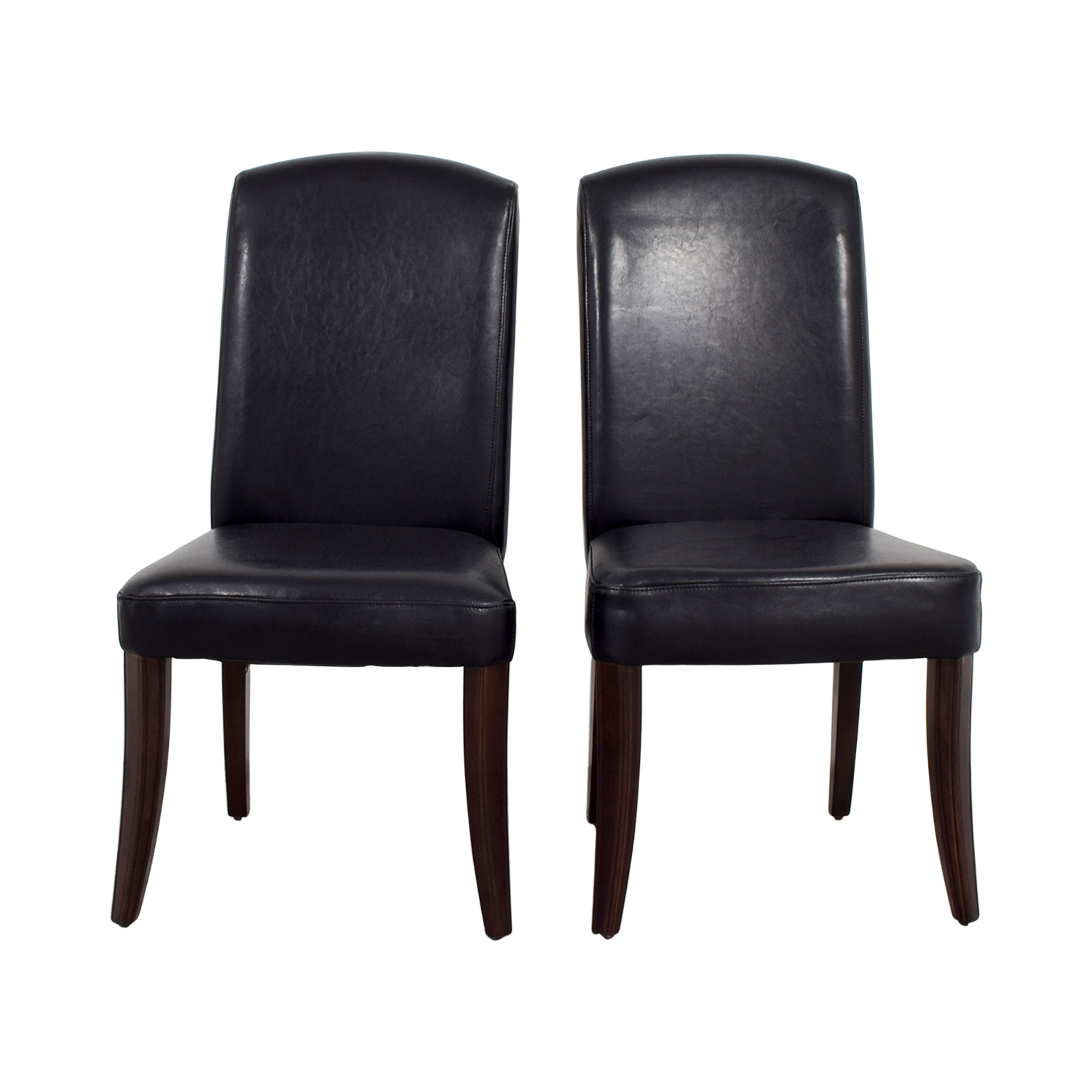 Black Padded Leatherette High Back Chairs nj