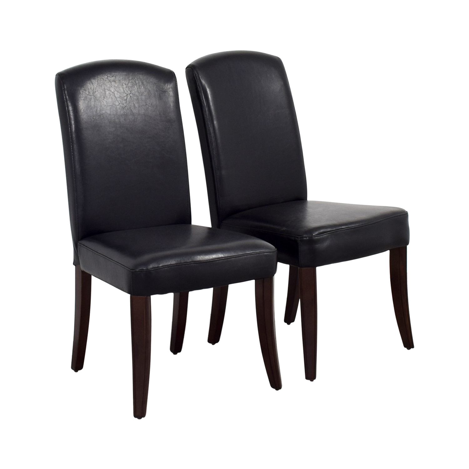 Black Padded Leatherette High Back Chairs dimensions