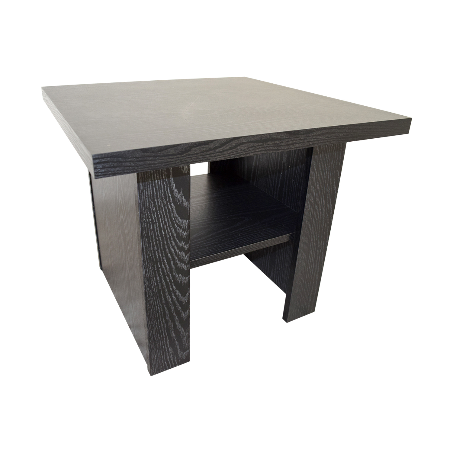 ... Black Square Side Table With Shelf On Sale ...