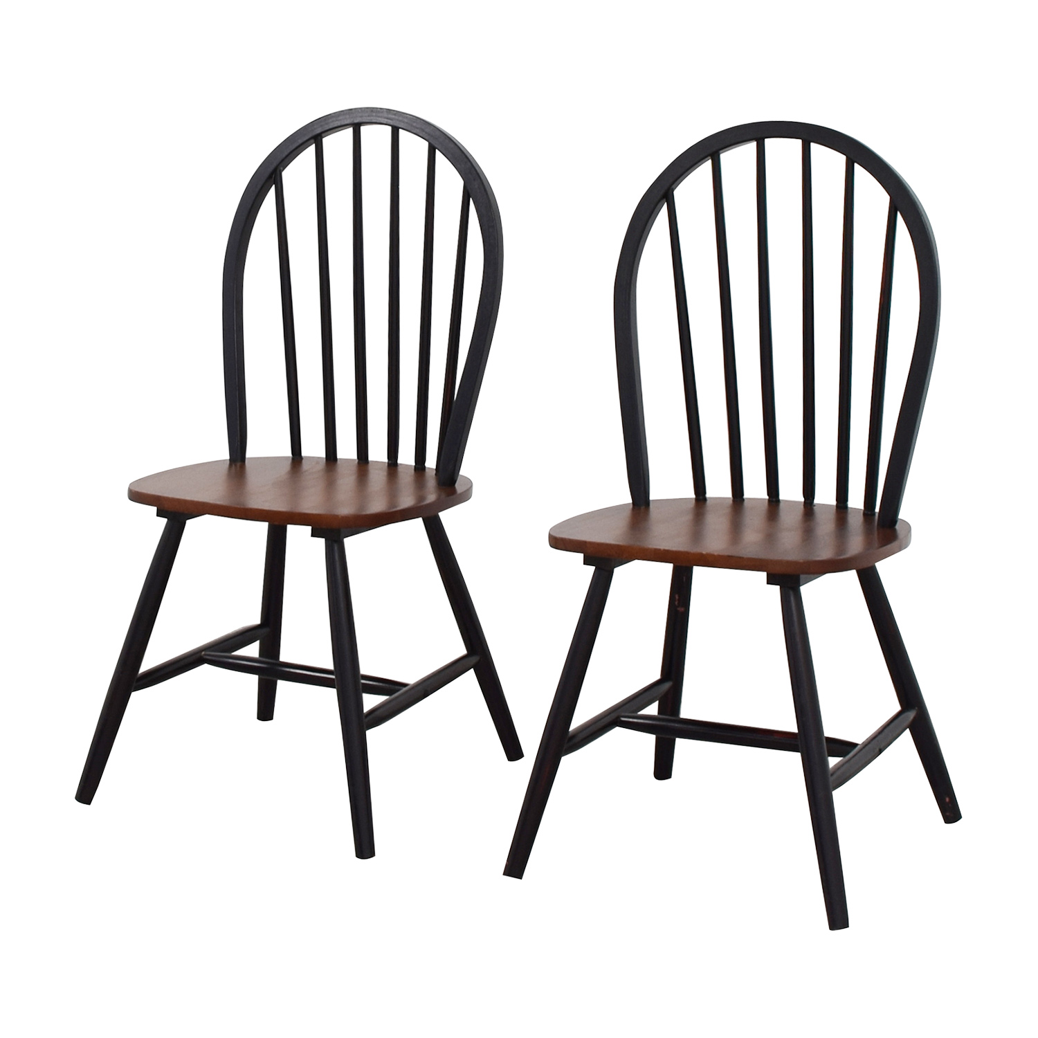 Off two tone wood dining chairs