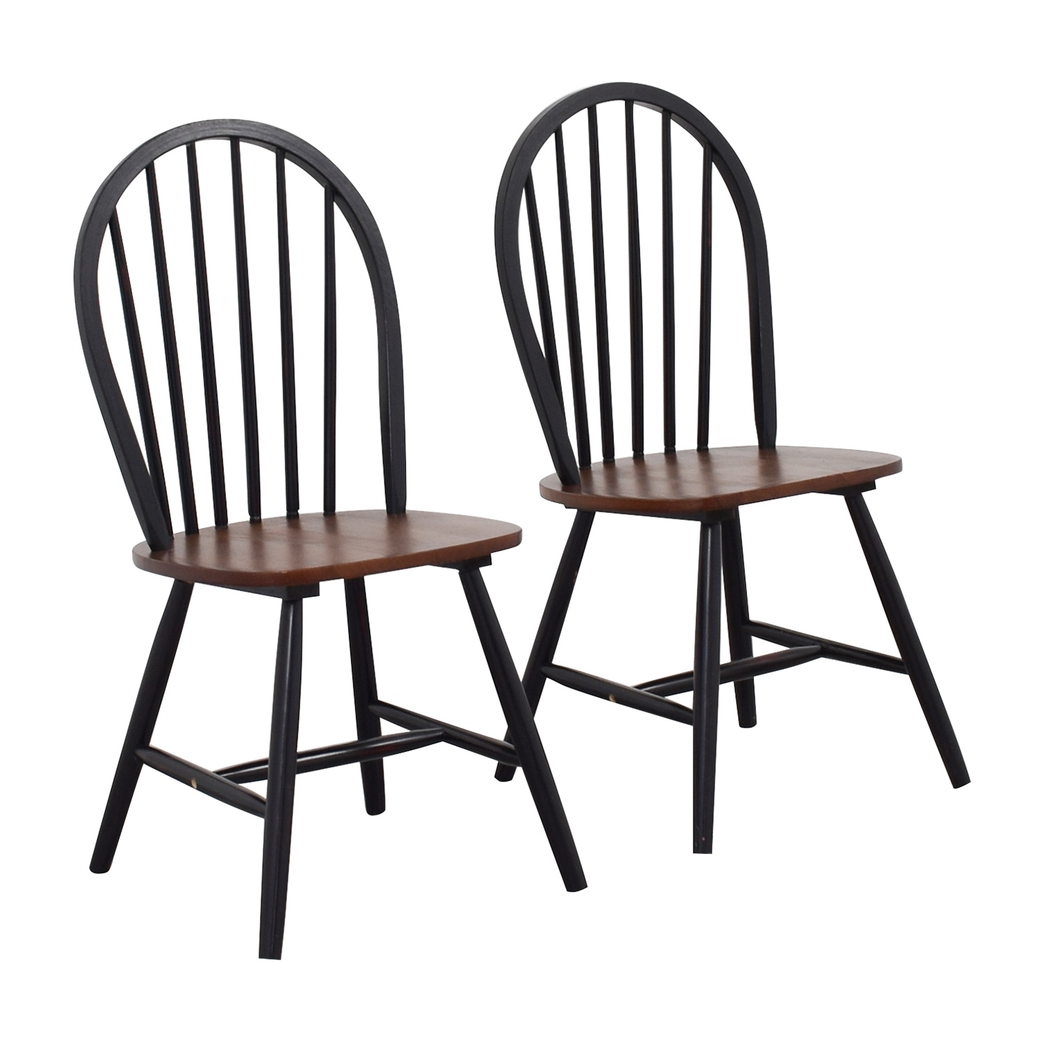 Two-Tone Wood Dining Chairs on sale