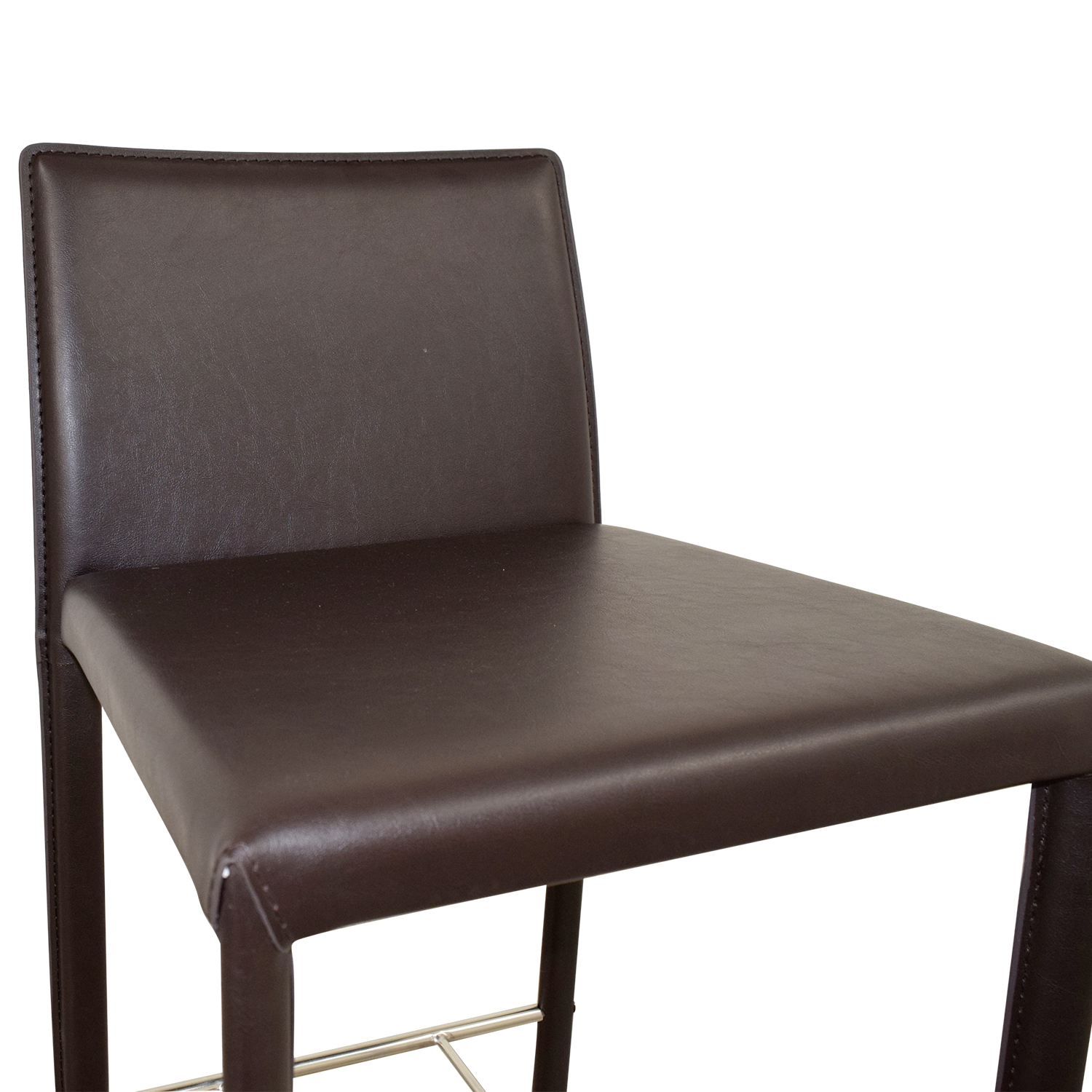 56 Off Coaster Coaster Modern Brown Leatherette Bar Chair Chairs
