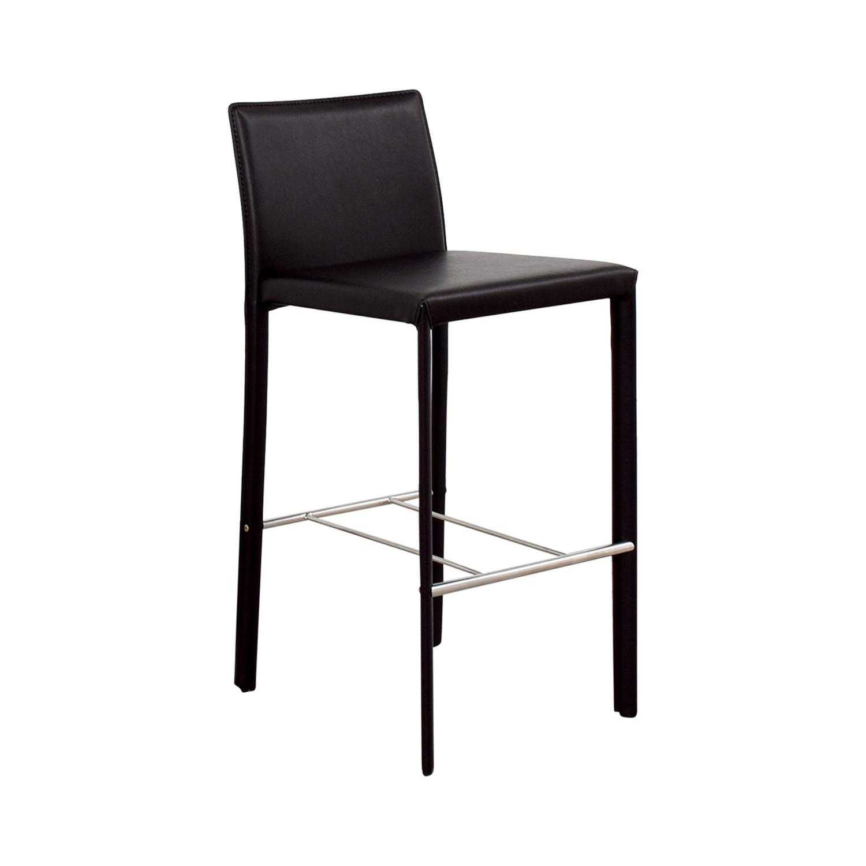 Coaster Modern Brown Leatherette Bar Chair Coaster