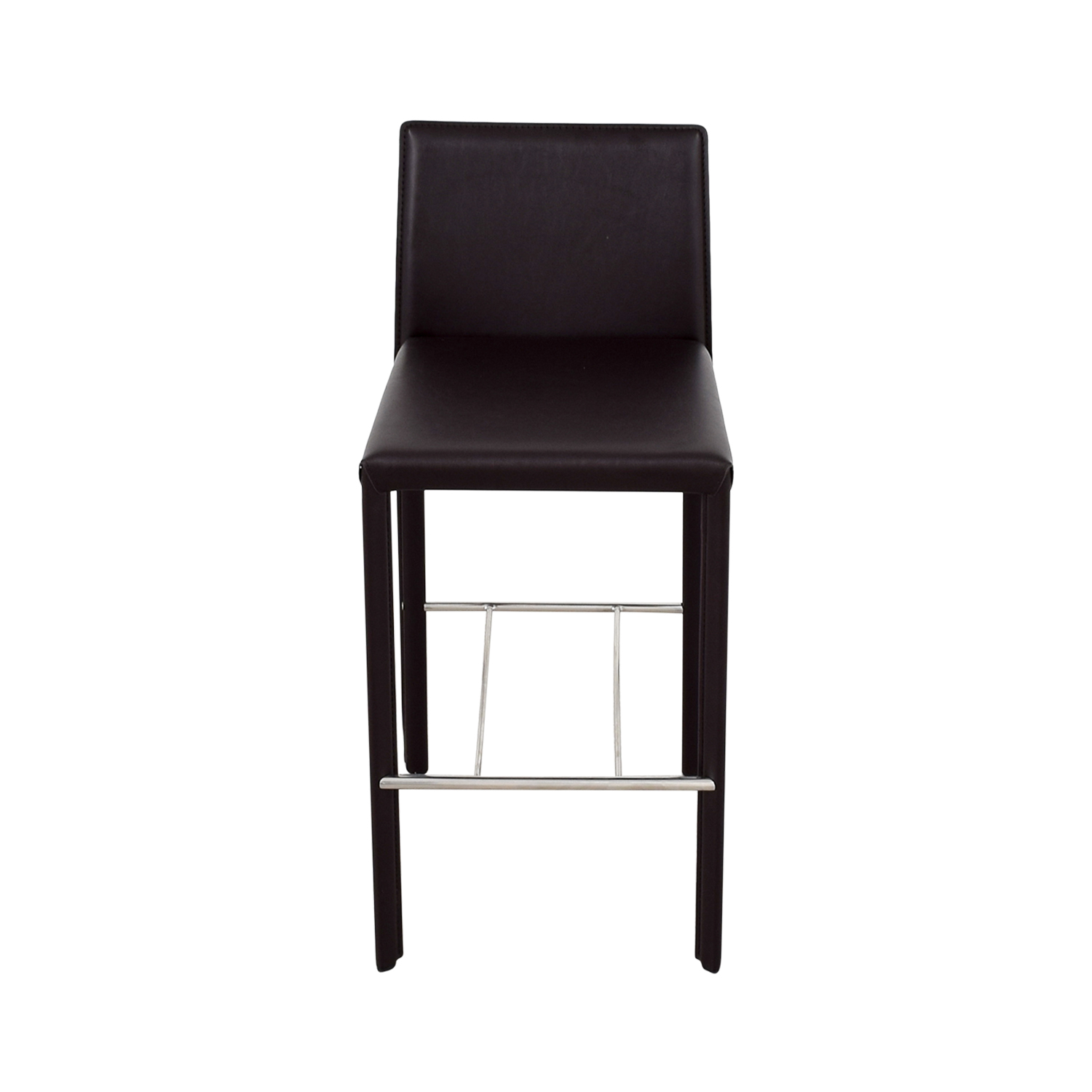shop Coaster Coaster Modern Brown Leatherette Bar Chair online