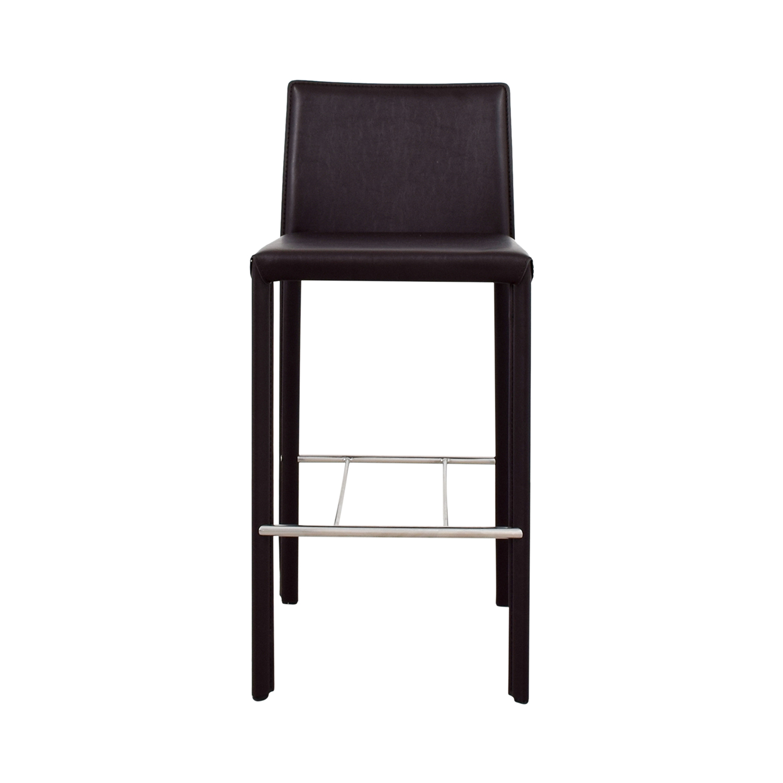Coaster Modern Brown Leatherette Bar Chair Online