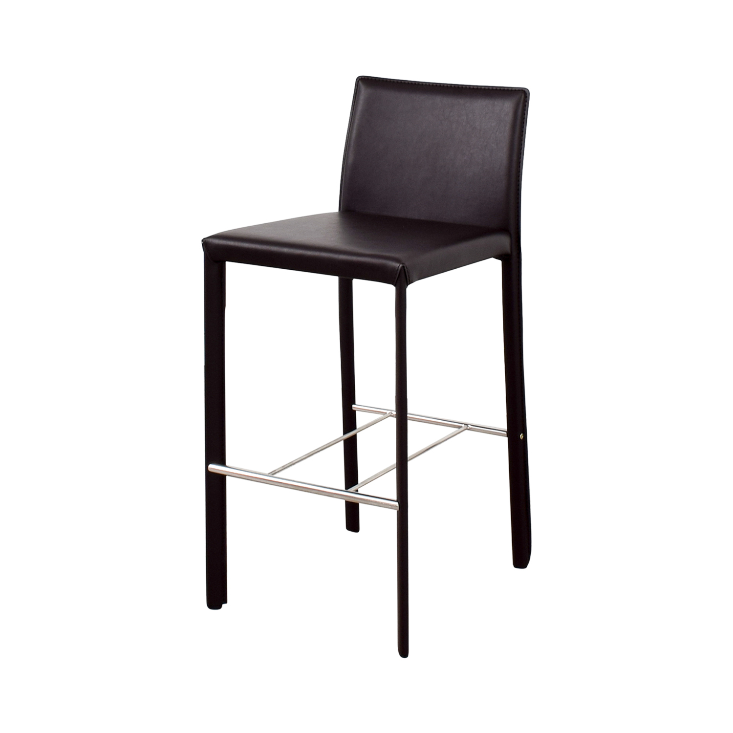shop Coaster Modern Brown Leatherette Bar Chair Coaster Stools