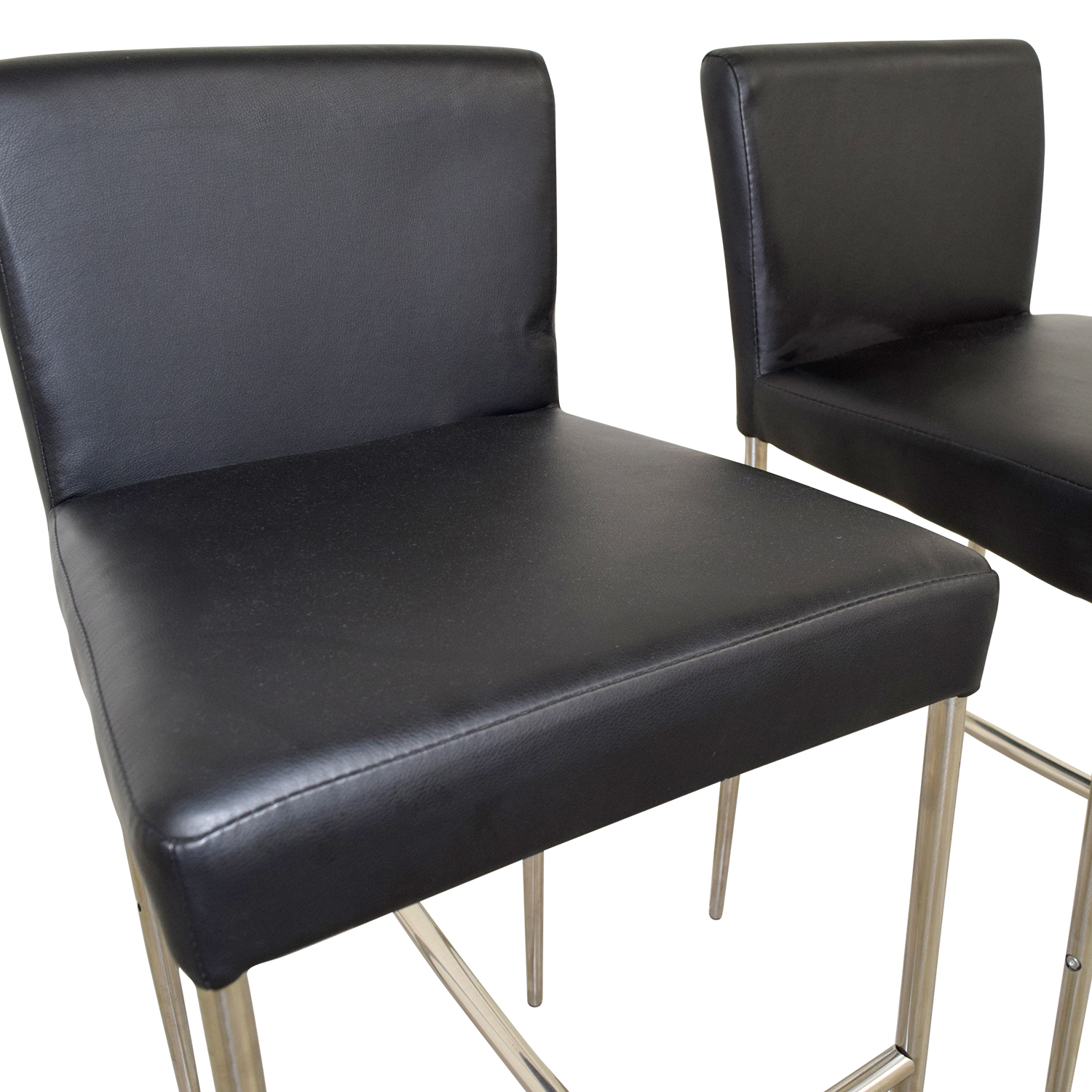 Counter Height Black Leatherette Chairs coupon