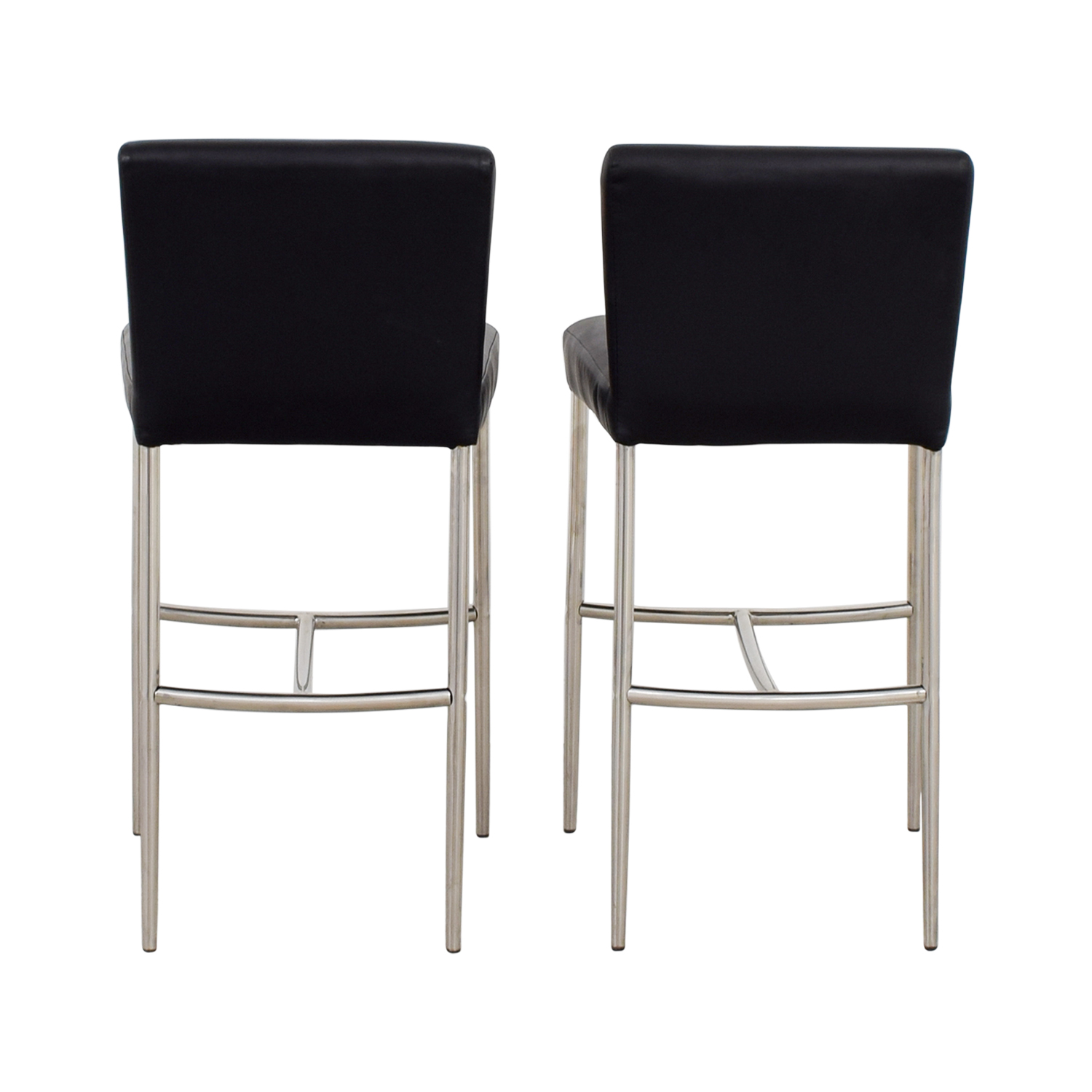Counter Height Black Leatherette Chairs nj