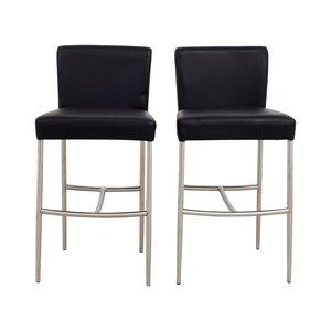 shop Counter Height Black Leatherette Chairs