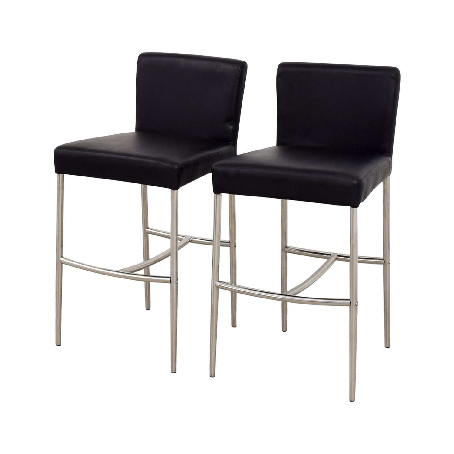 Counter Height Black Leatherette Chairs nyc